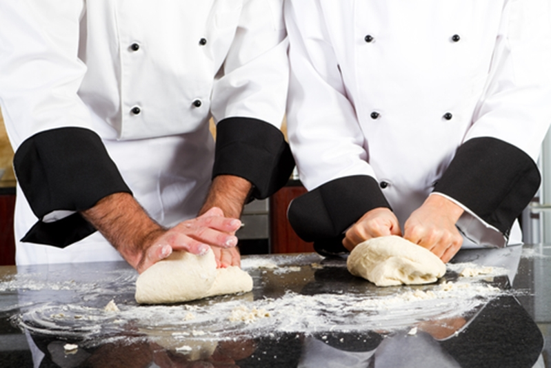 The temperature of your hands and bench can affect pastry dough, but a blast chiller can help with that.