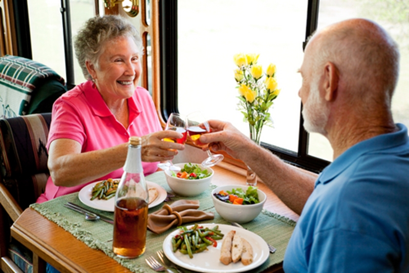 Making meals a social occasion can help to encourage good eating habits.