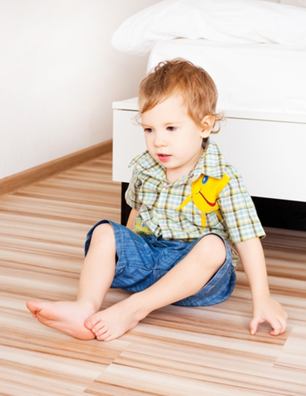 Wooden floors are safe for your children.