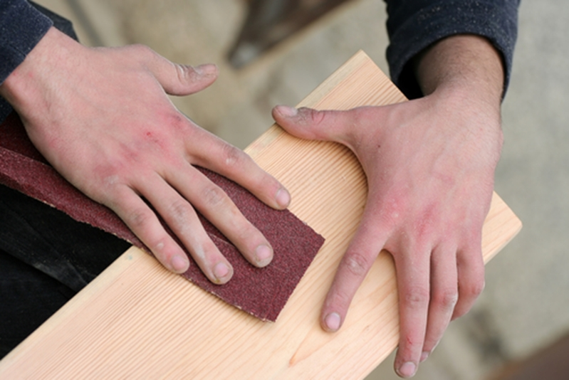 You'll need sandpaper to help smooth down your work once you're done.