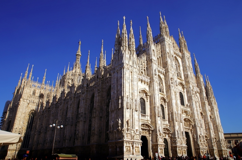 Many high-end designer stores can be found in the town centre near the Duomo Cathedral in Milan.