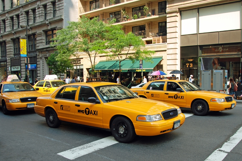 Hop in an iconic Yellow Taxi to carry your shopping bags to the hotel.