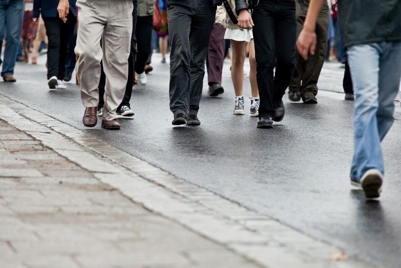 Have you noticed a sudden uptick in the number of people on the pavement?
