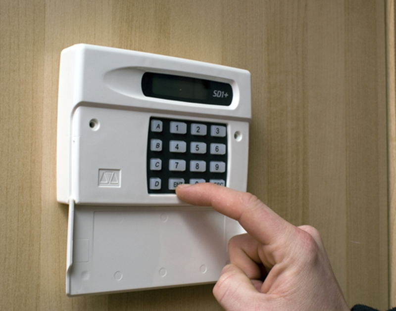 A visible burglar alarm system will deter all but the most determined crooks.