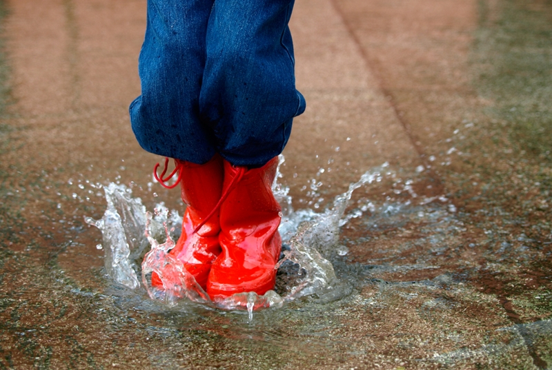 What could a puddle do to your property in the long run?