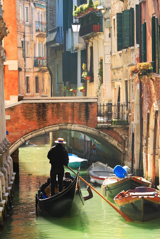 Don't leave Venice without taking a gondola ride through the canals.