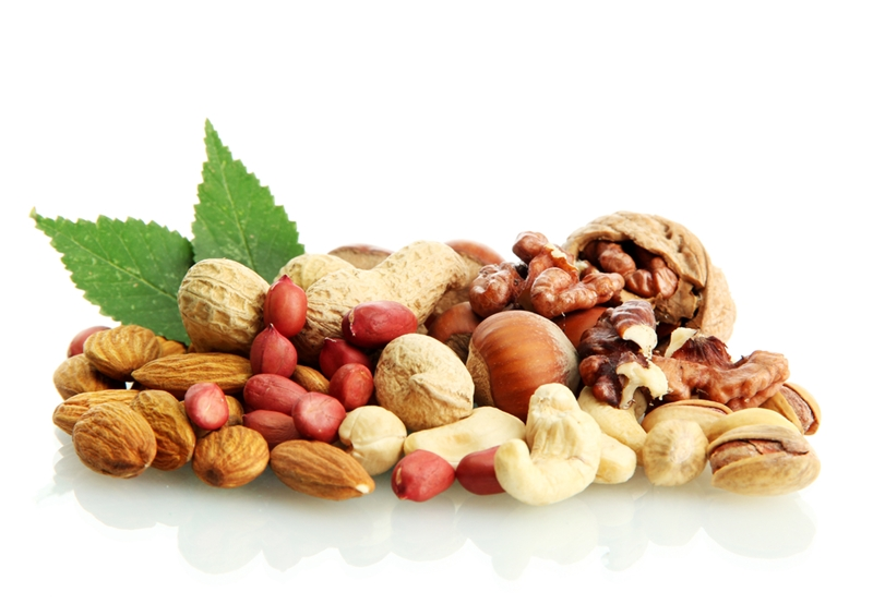 Nibble on high protein snacks such as nuts throughout the day to keep energy levels high.