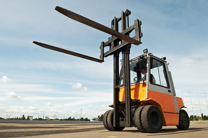 Forklifts pose a significant danger to employees who are working in the vicinity.