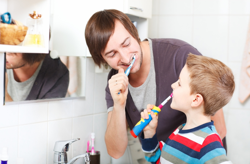 Make brushing a fun activity, rather than a dull chore.