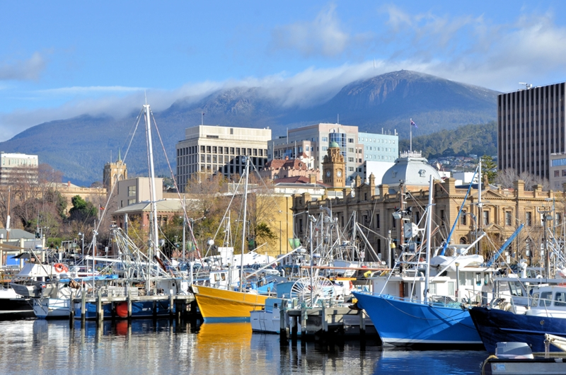 The Tasmanian Museum and Art Gallery is situated on Hobart's picturesque waterfront.