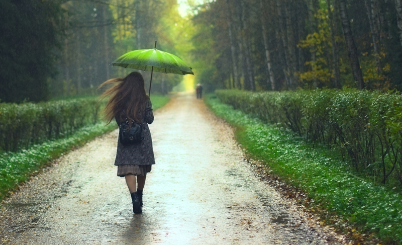 Keep your head dry in the rain - it'll protect your hearing aids from water damage.