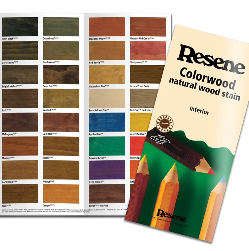 'The Paint the Professionals Use' is on Resene products to promote the brand.
