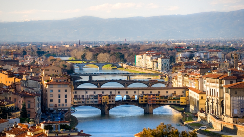 The Ponte Vecchio is one of Florence's most iconic landmarks.