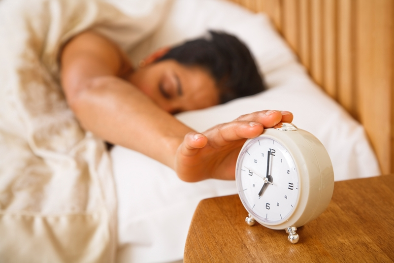 Getting a night of quality shut-eye is the first step to reducing stress levels.