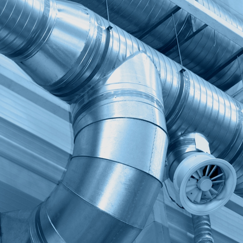 Ventilating pipes can be galvanized.