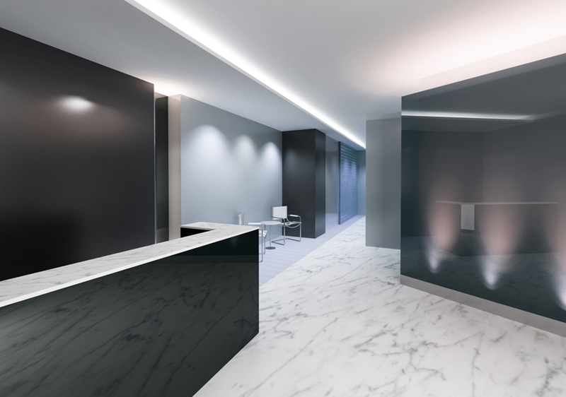 Turama downlights are an effective lobby lighting solution.