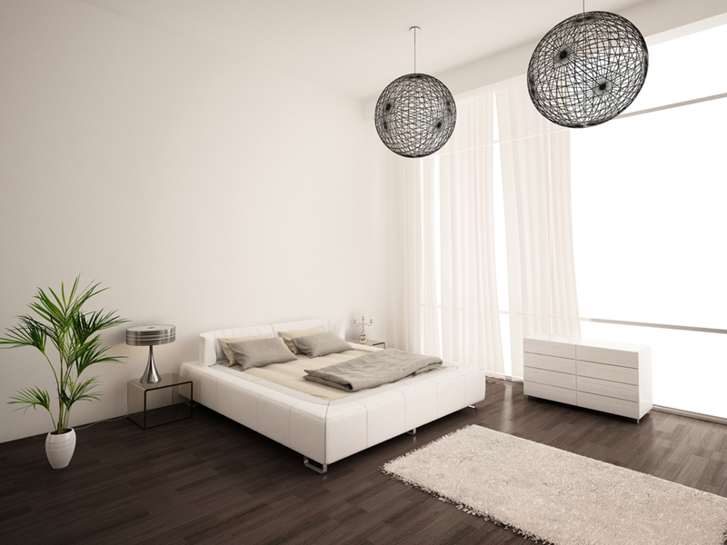 Protect your wooden floors with rugs.