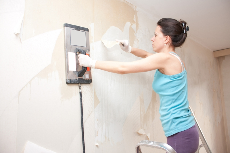 Hire the right tools to dissolve any wallpaper adhesives.