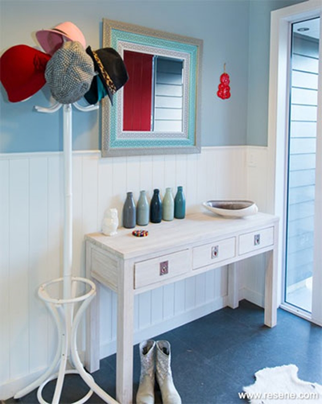 Pale blue is a calming colour for any room in the house.