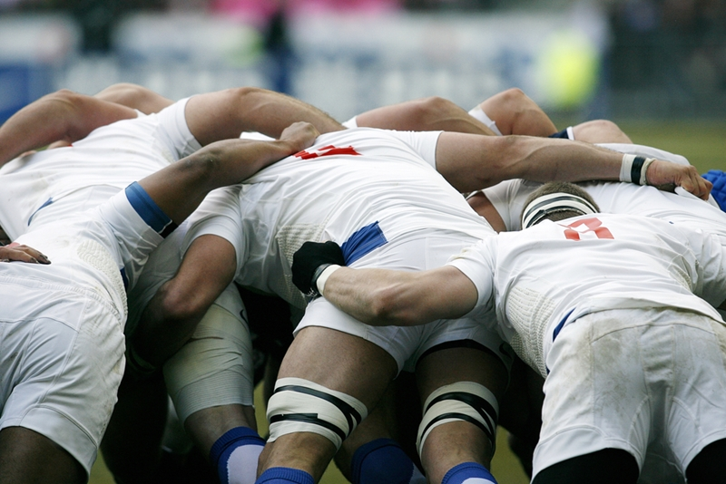 There are plenty of ways you can get a broken tooth from in a scrum.