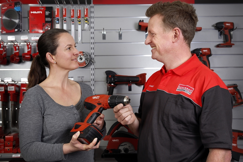 The team at Kennards can set you up with the right power tool for the job.