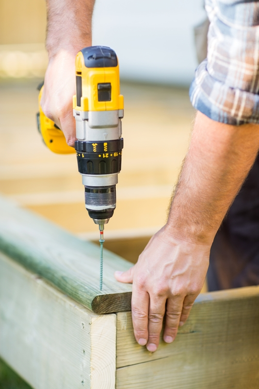 Concrete vibrators are essential for projects around decking and fences.