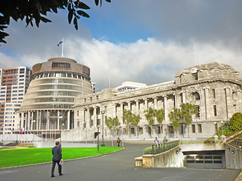 New Zealand's Parliamentary buildings can be a great place to go when the clouds close in.