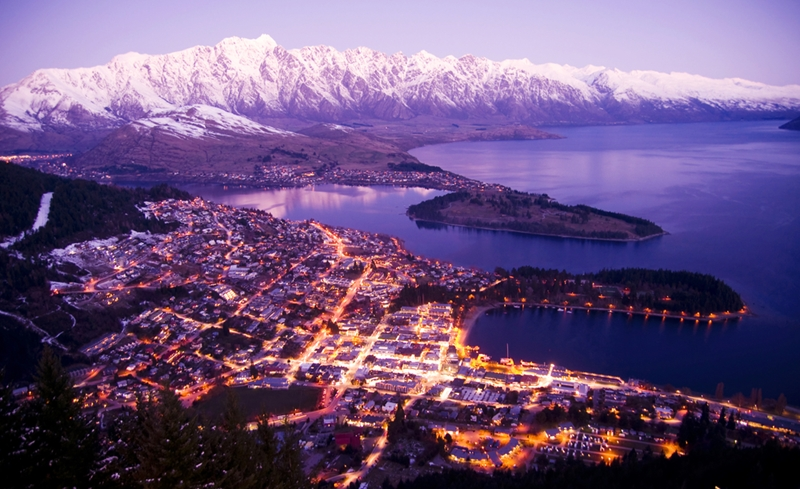The Remarkables loom in the distance for Queenstown visitors.
