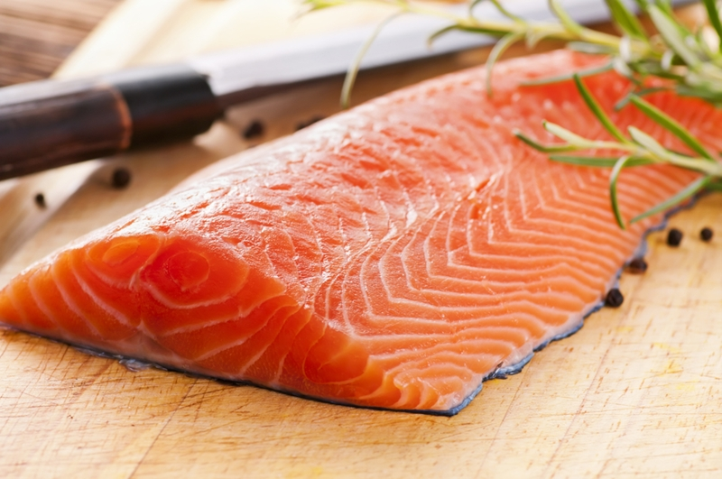 Salmon contains plenty of omega-3, a super healthy fat.