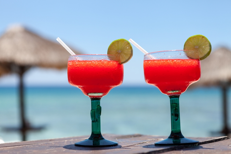 There are few things in life better than sitting on a beach, cocktail in hand.