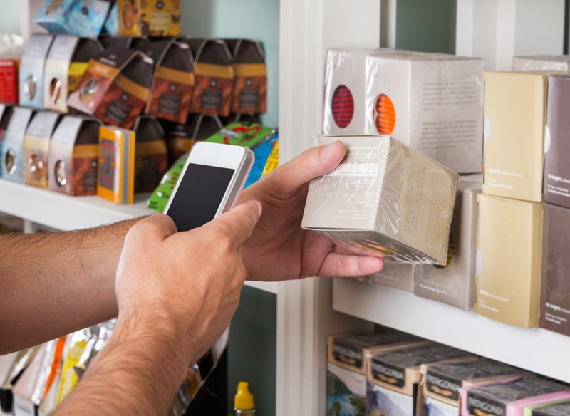 Consumers often use their smartphones in stores.