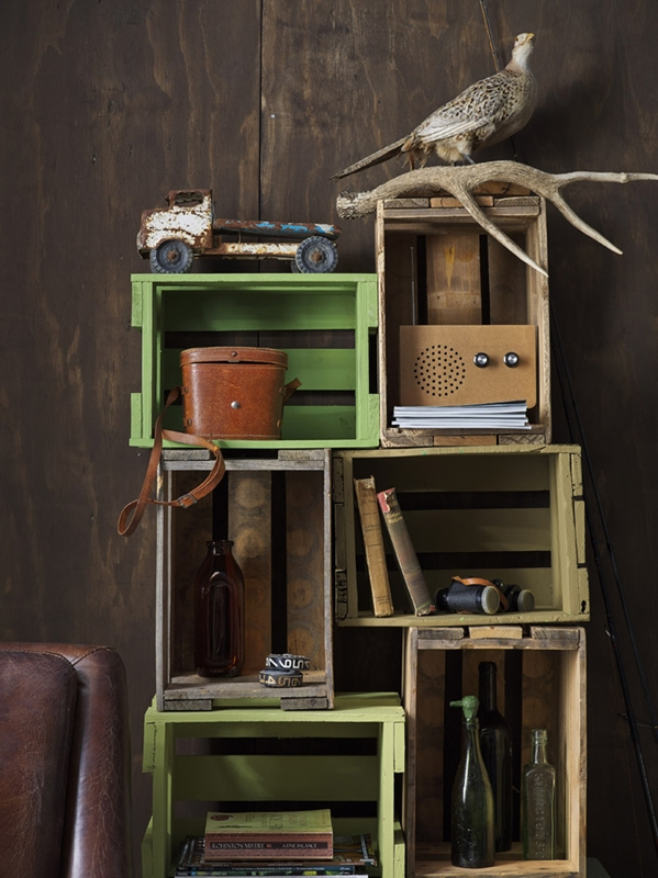 Create crate shelving for a unique and fun pet project