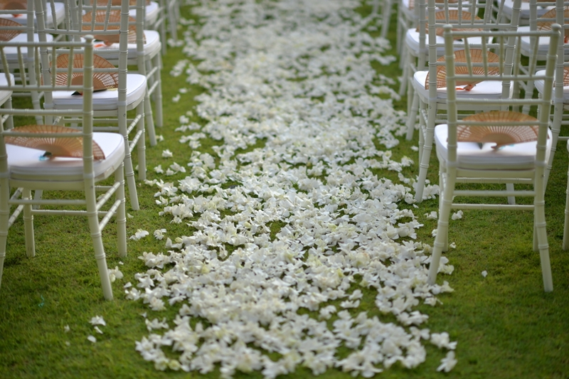 An outdoor wedding can be a literal breath of fresh air for your guests.
