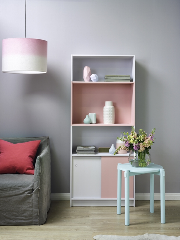 Grey offers a chic atmosphere in modern living spaces.