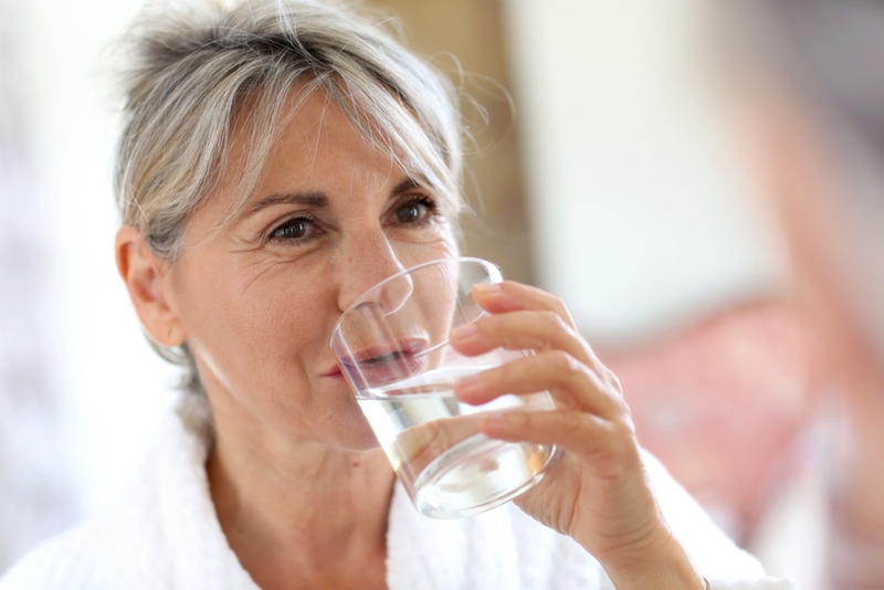 Keep your water intake up while travelling.