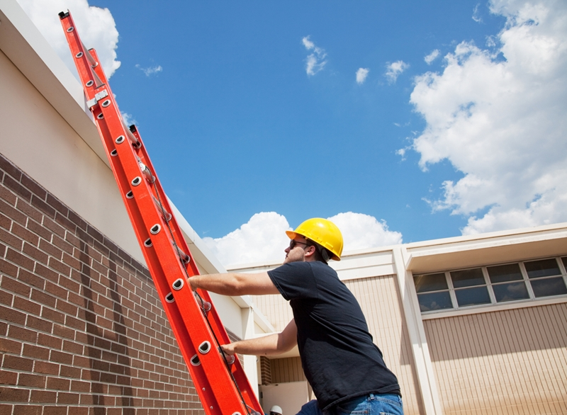 Make sure that you're always using ladders that are safe and in good condition.