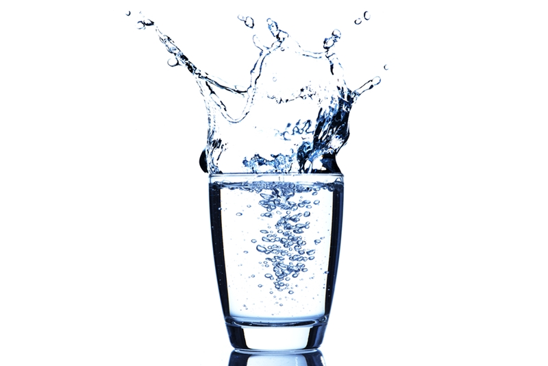 A glass of water can complement any meal you have.