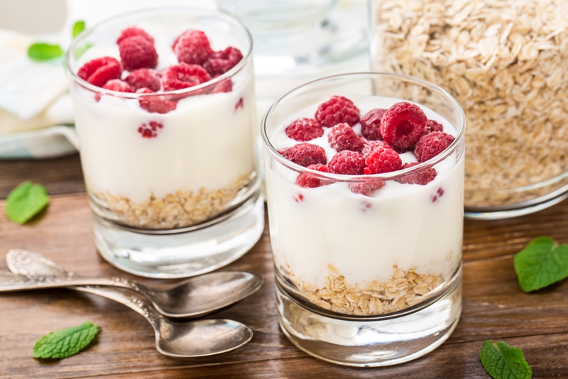 Add yoghurt to your diet to improve your digestive system, and your mood.