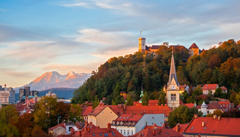 Castle Hill is a must-see while you're here in Ljubljana.