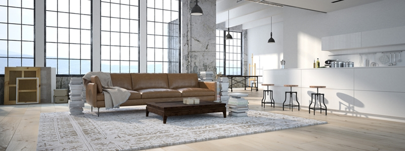 ... Industrial Loft Apartments That Are Prevalent In Brooklyn, New York.  Exposed Brick Walls, Statement Pendant Light Fixtures, Concrete Floors And  Large ...