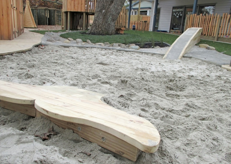 A humpback whale lobbing out the sand pit is a playful nod to Pacifica at G centre.