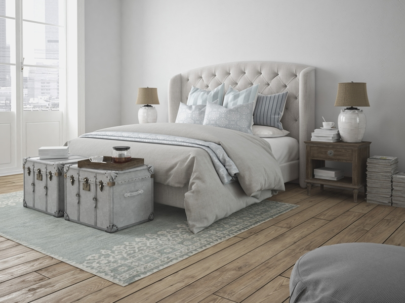 White bedrooms keep it classic.