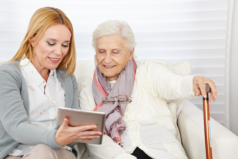 Companion carers can introduce elders to exciting new technology.