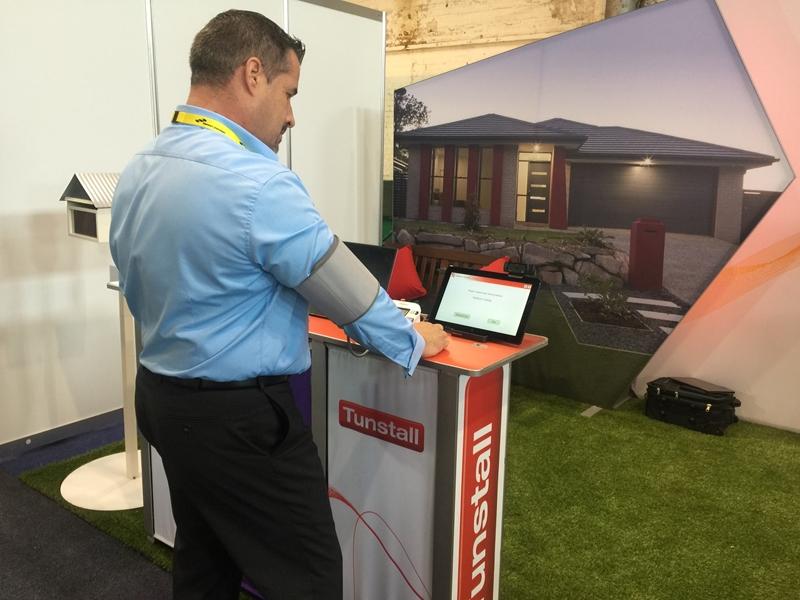 Geoff demonstrates Tunstall's Integrated Care Platform.