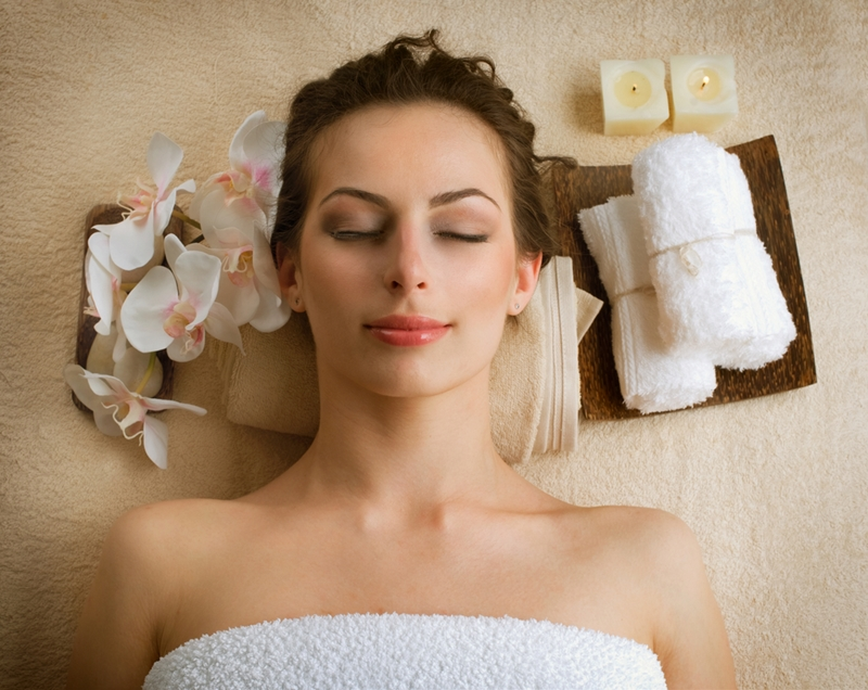 Calm your jitters at the day spa.