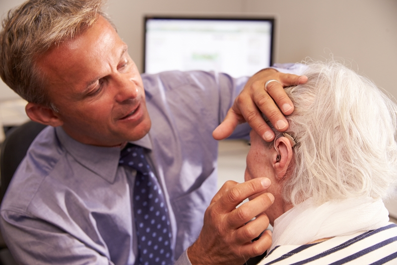 People with moderate to profound hearing loss can benefit from the use of hearing aids.