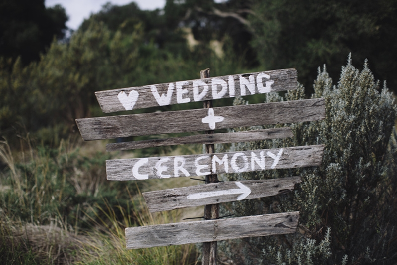 This way to a beautiful wedding!