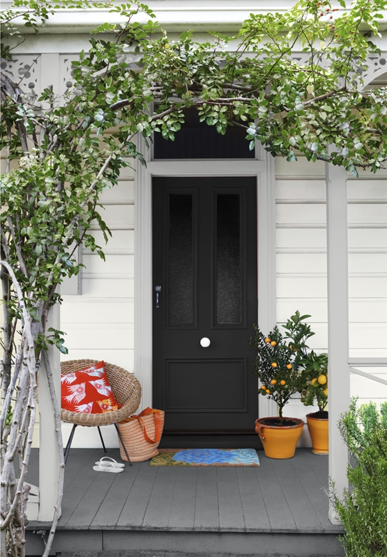Let your neighbours know how sophisticated you are with a black door.