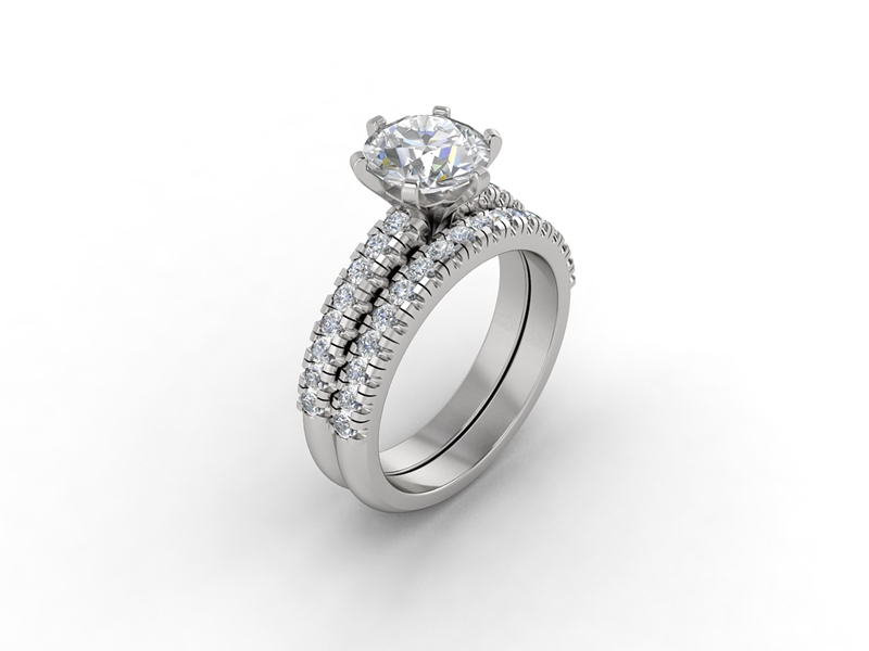 A custom eternity band can perfectly compliment your engagement ring.