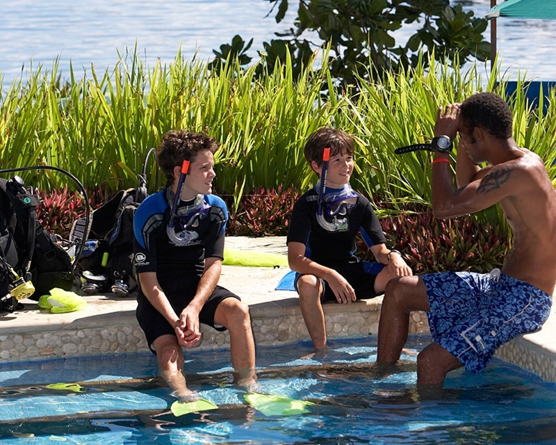 Kids love our fun intro to scuba course!